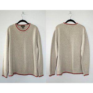 VINTAGE Cream & Red Sweater